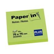 Notes paper-in 76x76 verd 100 fulls