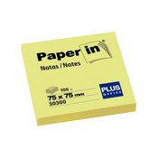 Notes adhesives paper-in 75x75 100 fulls