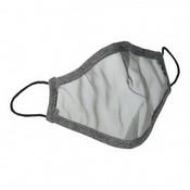 Mascarilla transparente gris infantil 00151