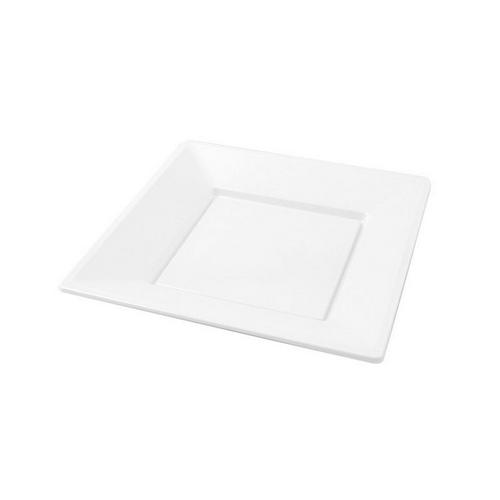 Platos cuadrados 17cm blanco