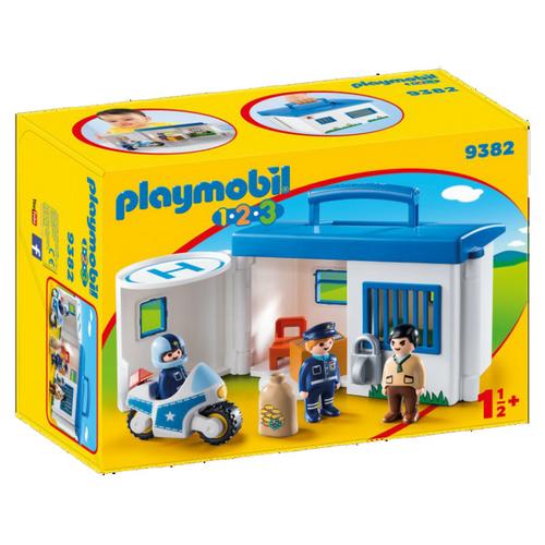 PLAYMOBIL 1.2.3 Comissaria Policia maletí 9382