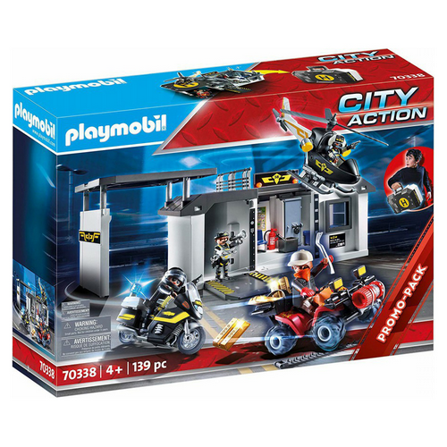 PLAYMOBIL City Action comissaria forces especials maletí amb efectes de llum 70338