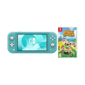 Consola Nintendo Switch Lite Azul Turquesa +Animal Crossing New H. + 2 Meses NSO