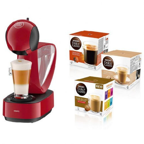Cafetera Dolce Gusto Roja Infinissima ED260R + 3Caixes cafè