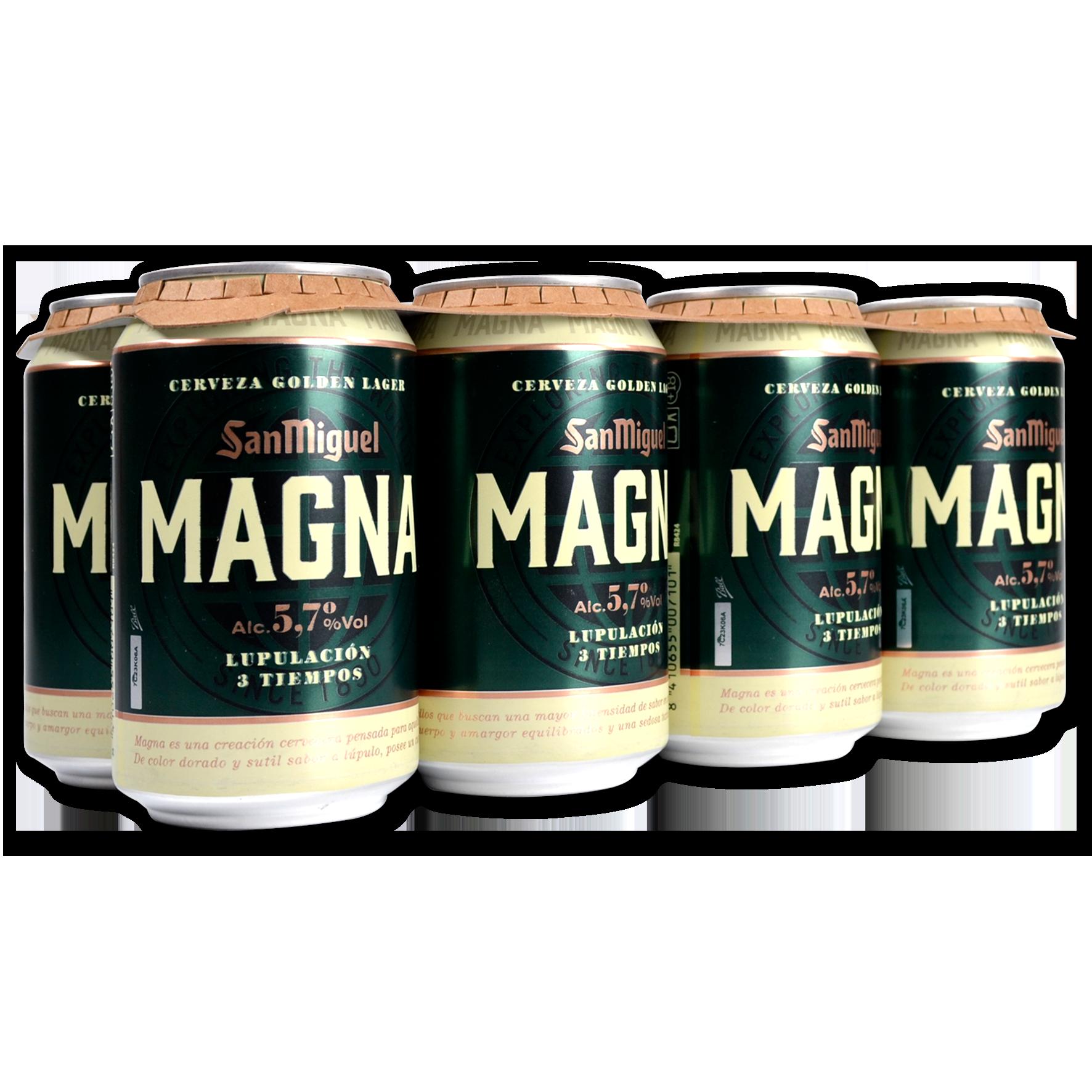 Cervesa Magna San Miguel paq. de 8 llaunes