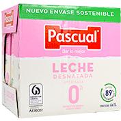 Llet desnatada Pascual paq. de 6 brics