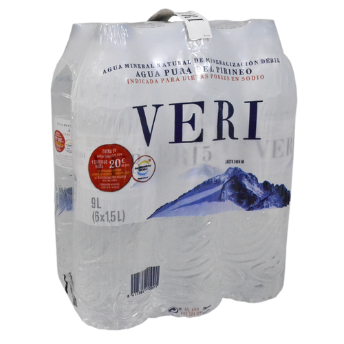 Agua mineral Veri paq. de 6 botellas