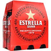 Cervesa Estrella Damm paq. 6 u. x 25 cl