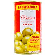 Aceitunas rellenas de anchoas La Española clásica