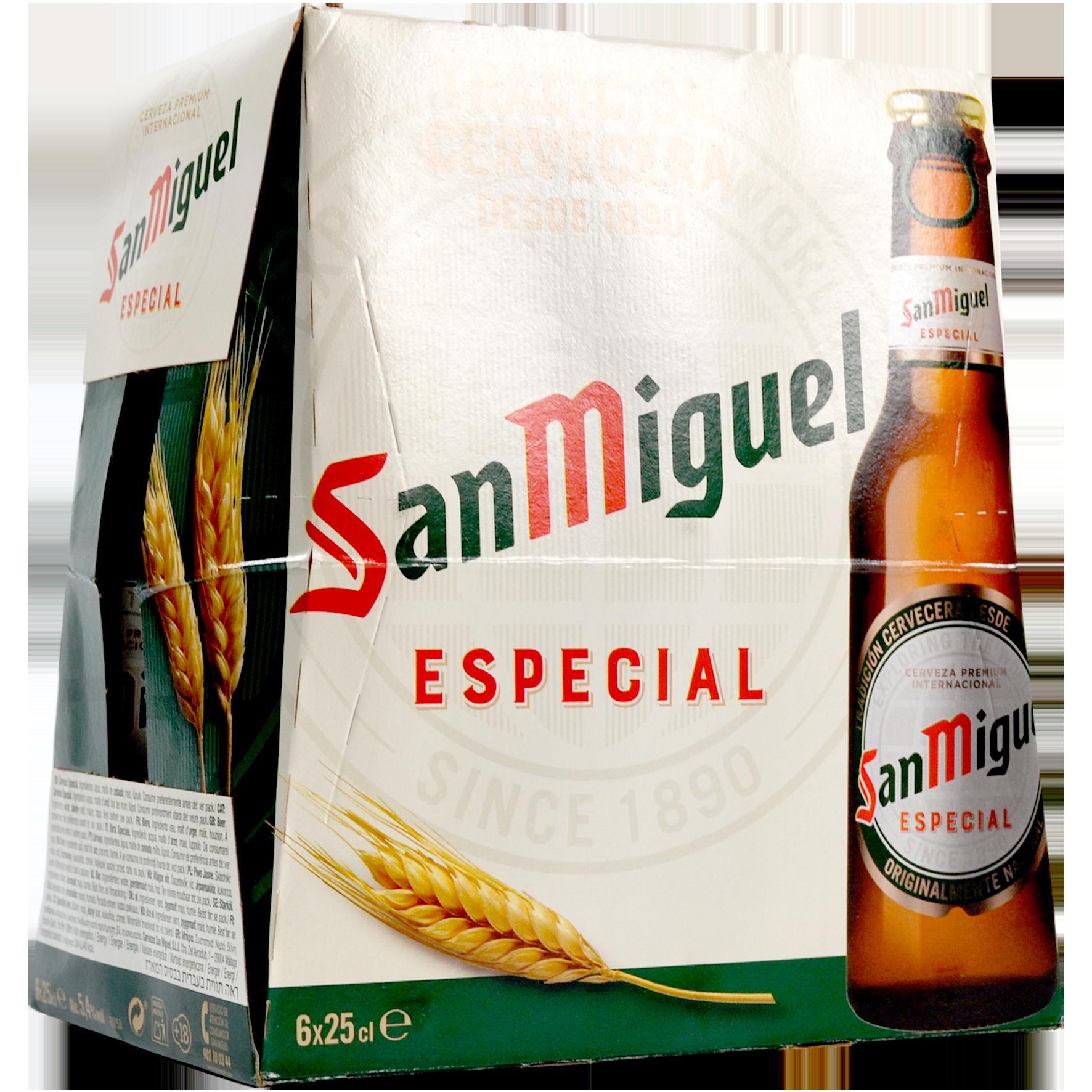 Cervesa especial San Miguel paq. 6 u. x 25 cl