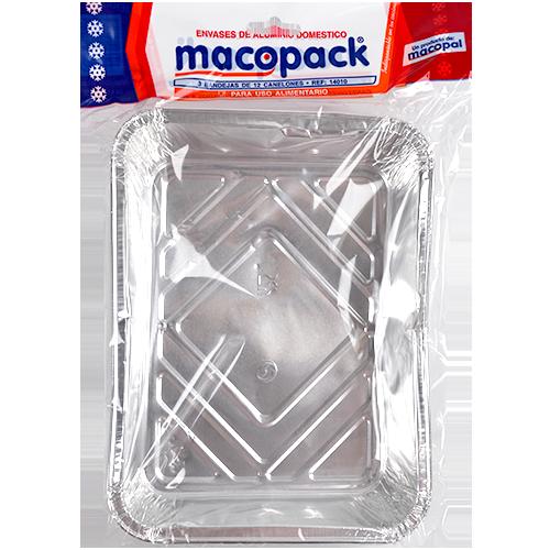 Bandejas de aluminio Macopack 226X176X35 mm