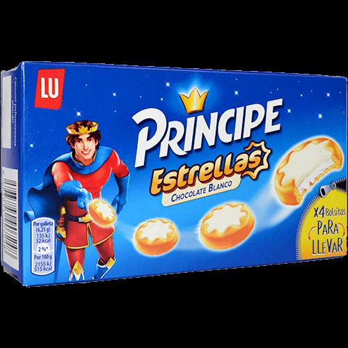 Galetes amb xocolata Príncipe estrella blanca