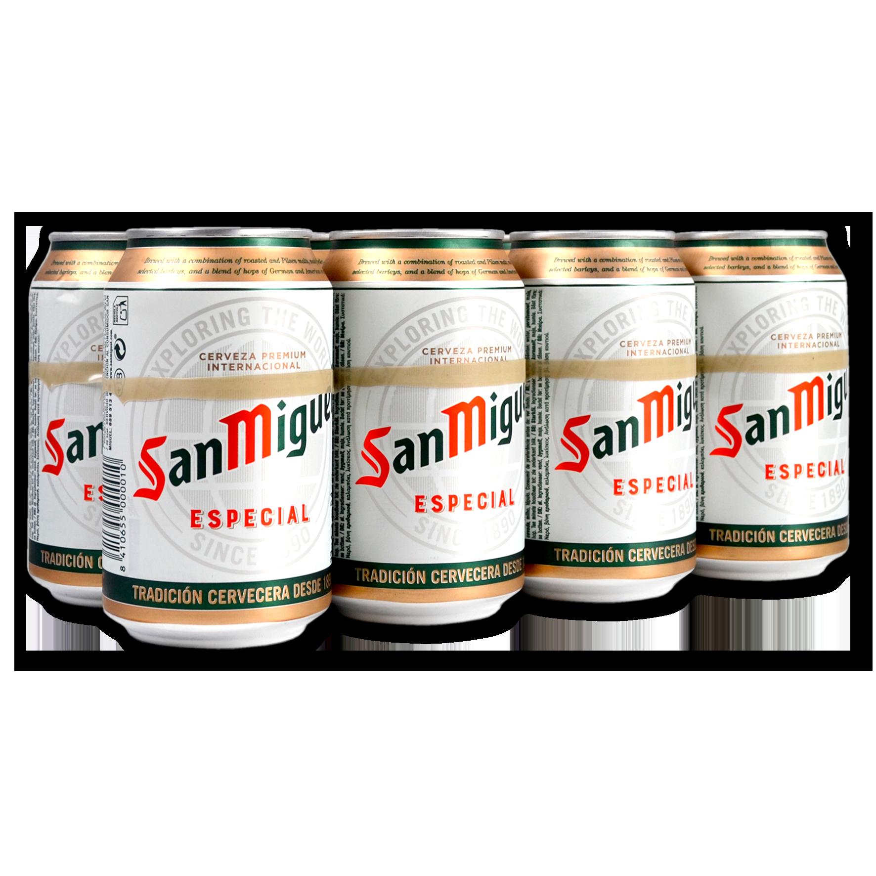 Cervesa especial San Miguel paq. 8 llaunes