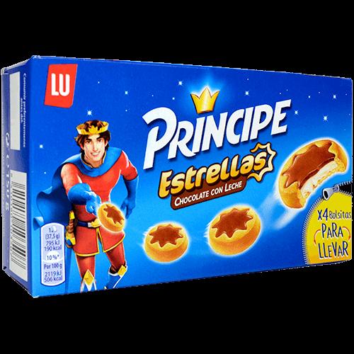 Galetes amb xocolata Príncipe estrelles