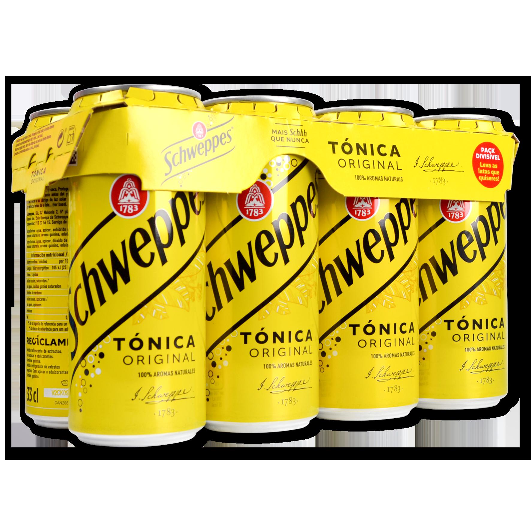 Refresc tònica Schweppes paq. de 8 llaunes