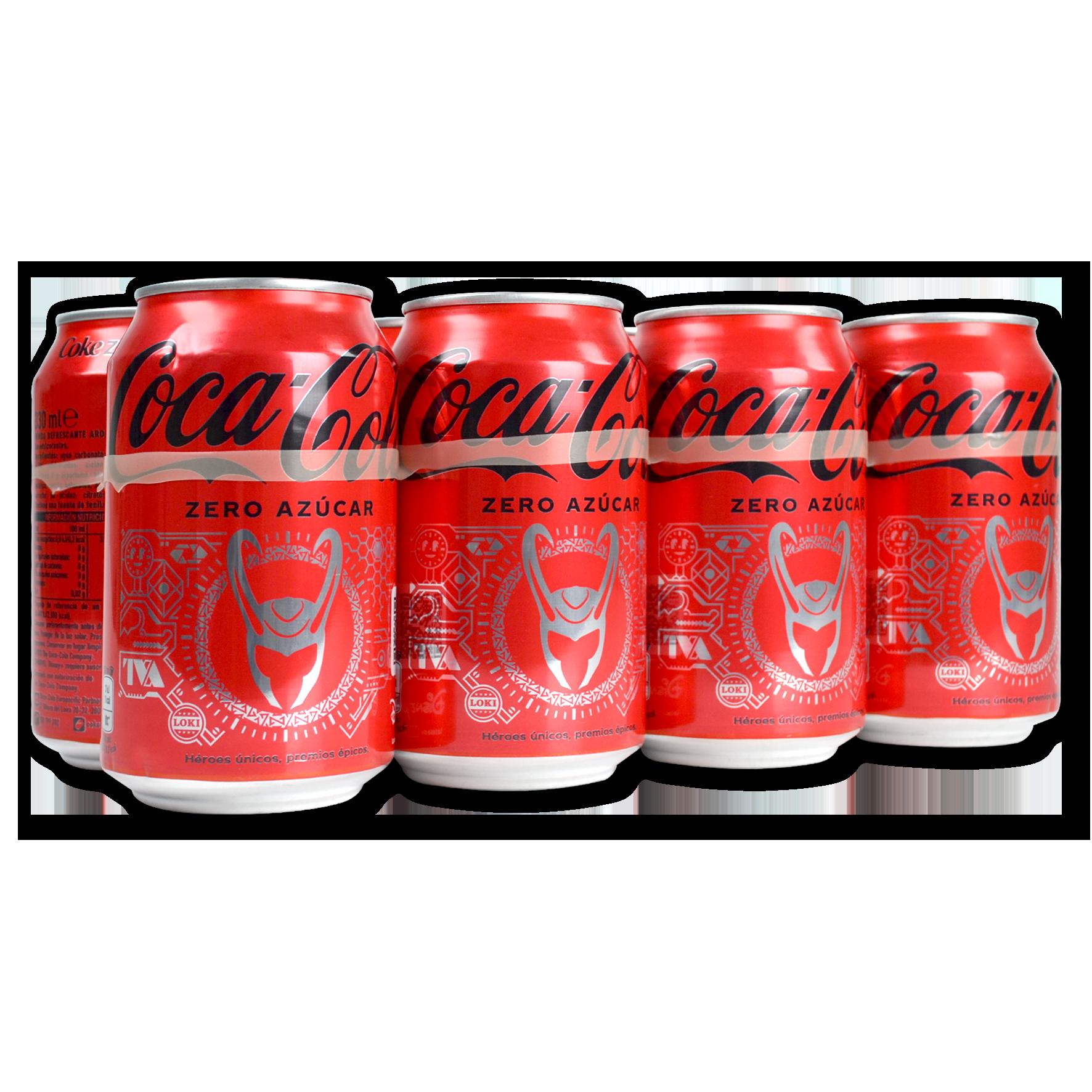 Coca Cola Zero paq. de 8 llaunes