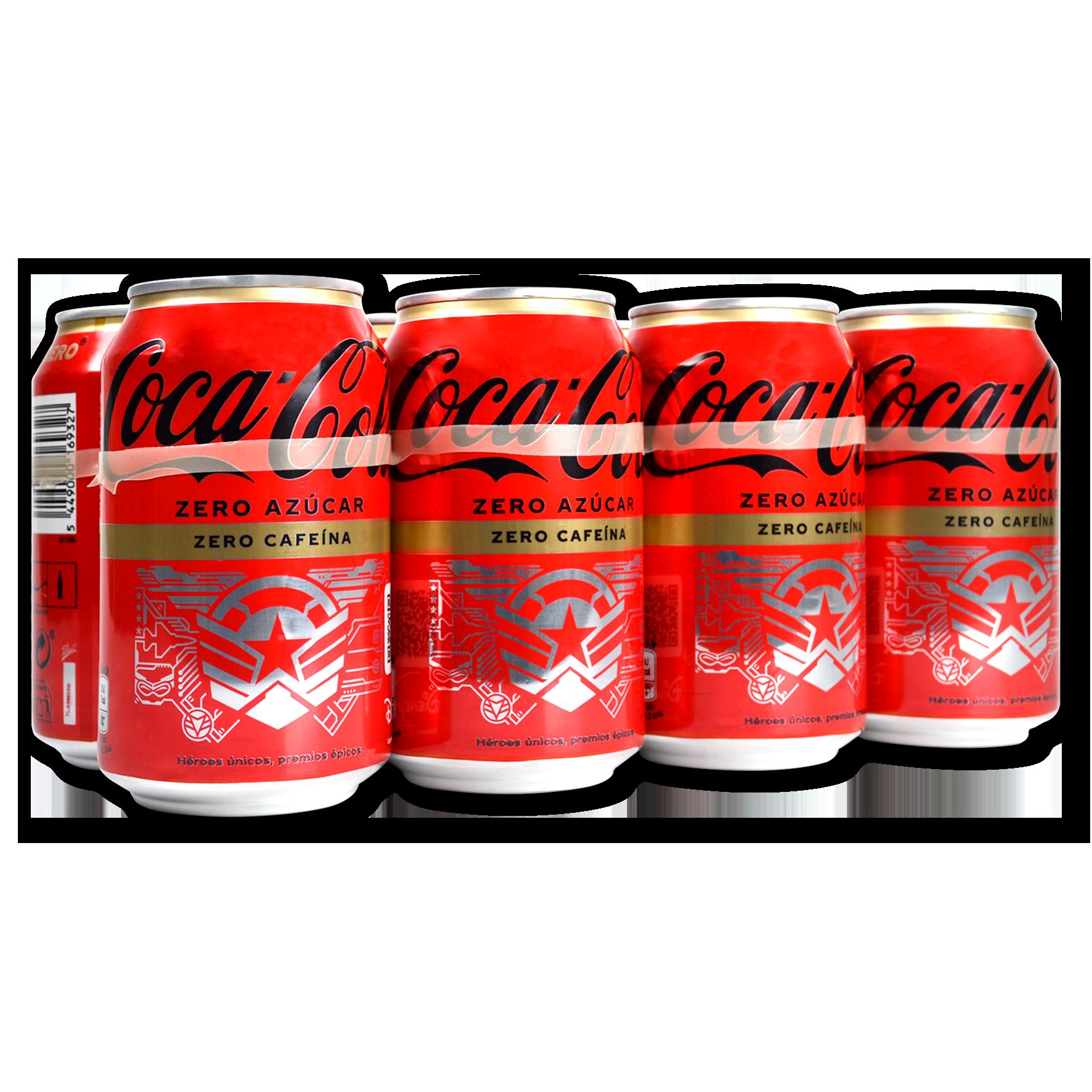 Coca Cola Zero sense cafeïna paq. de 8 llaunes