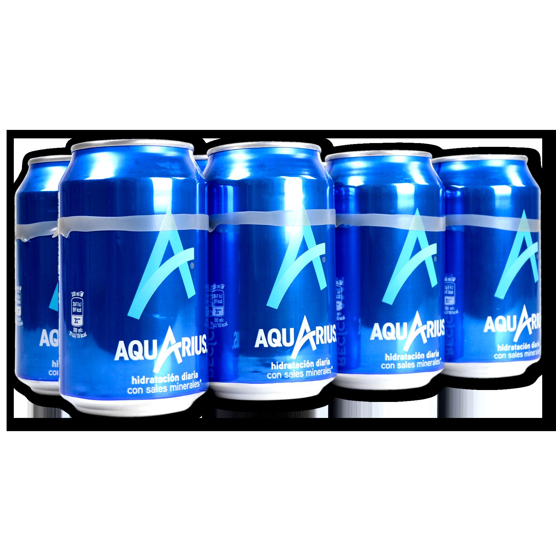 Aquarius isotónico paq. 8 latas