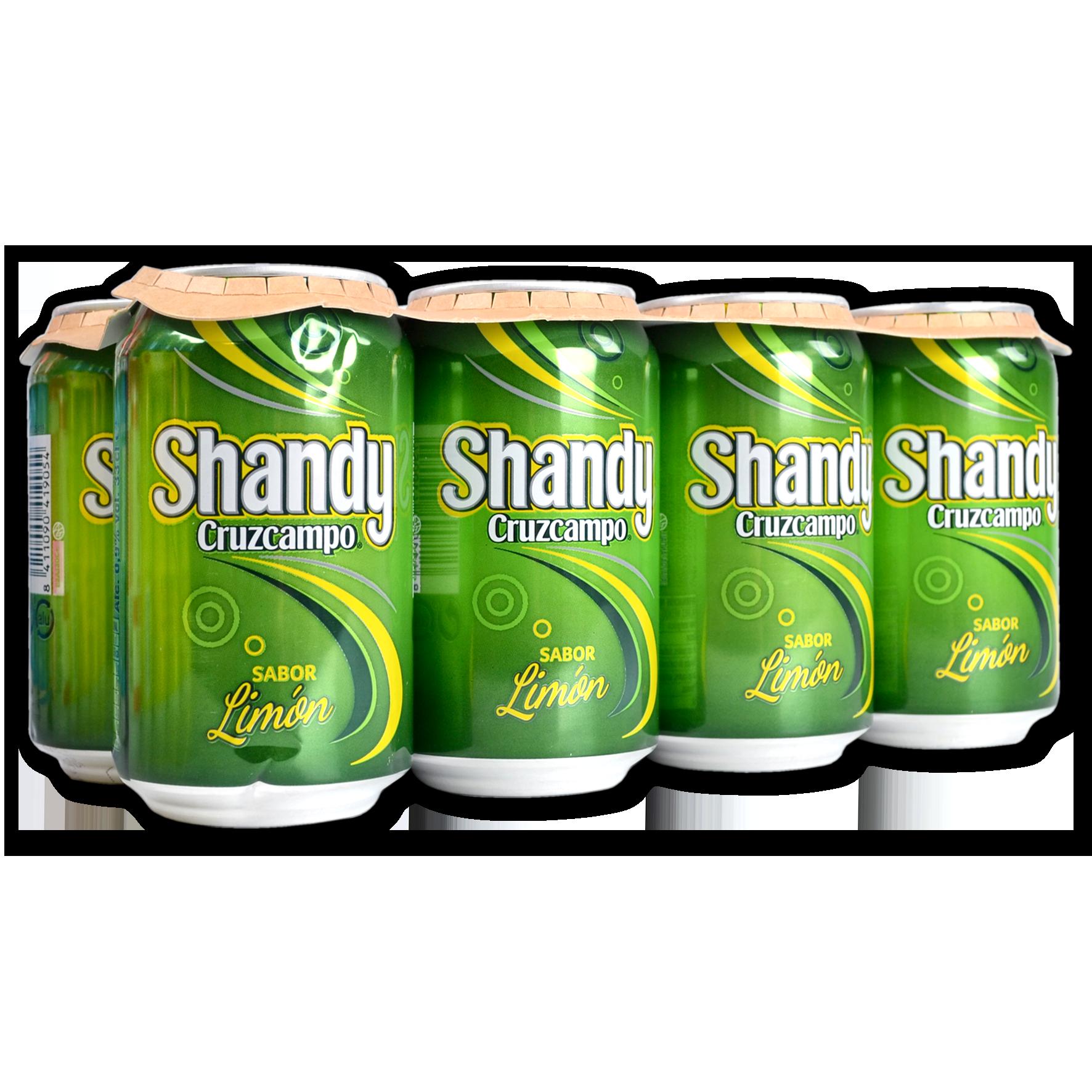 Cervesa shandy sabor llimona Cruzcampo paq. 8 llaunes sleek
