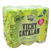 Aigua amb gas llima - llimona Vichy paq. de 6