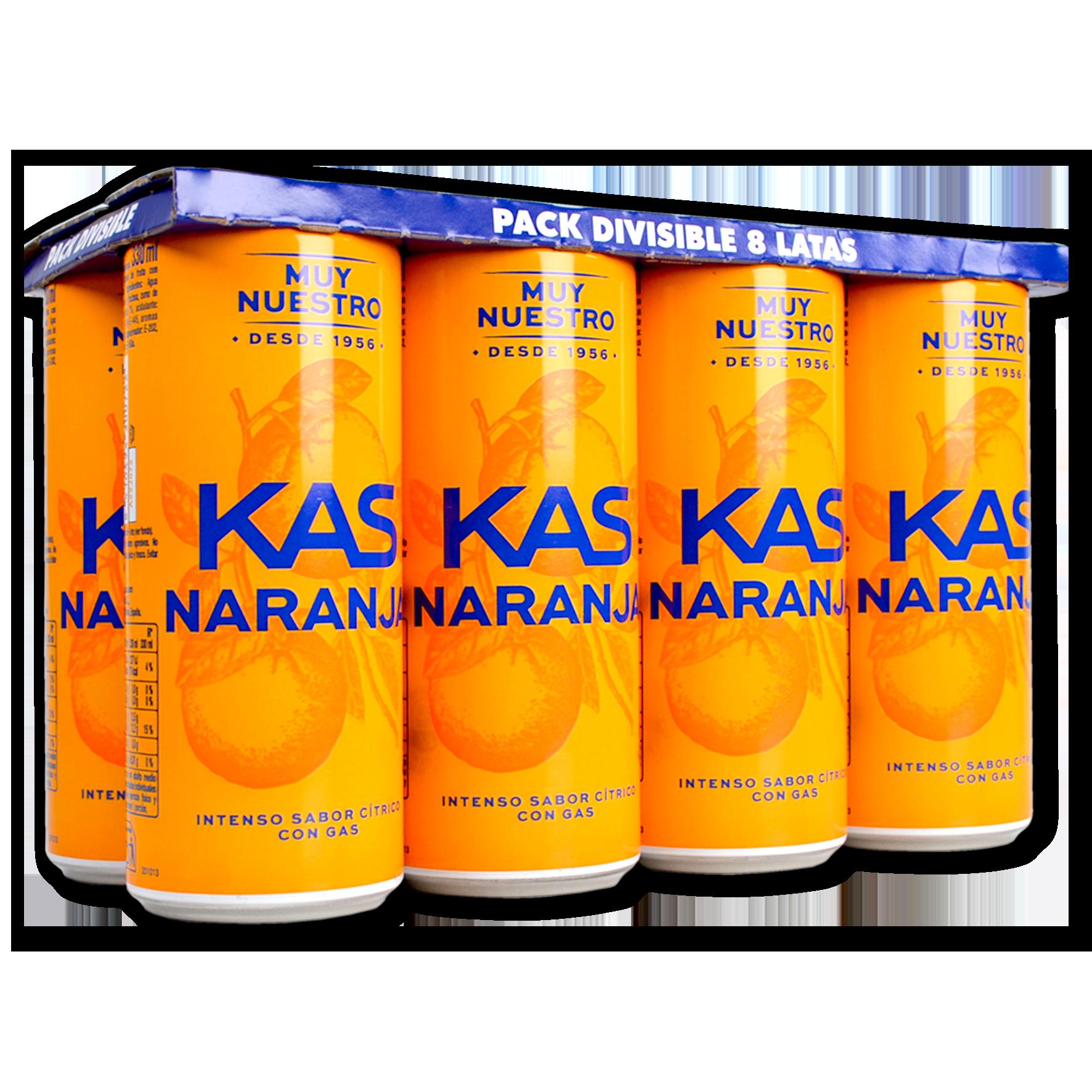 Kas taronja paq. de 8 llaunes
