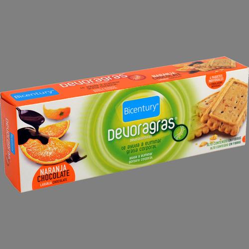Galetes devoragras Bicentury taronja amb xocolata estoig