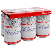 Cervesa Budweiser paq. de 6 llaunes