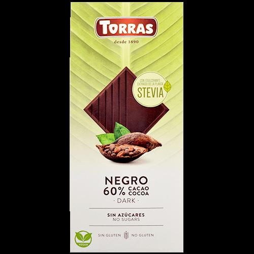Xocolata negra stevia Torras
