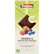 Xocolata negra stevia Torras amb fruits del bosc