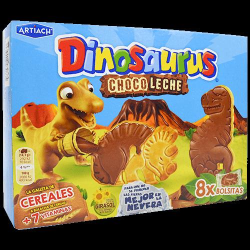 Galetes de xocolata amb llet Artiach dinosaurus