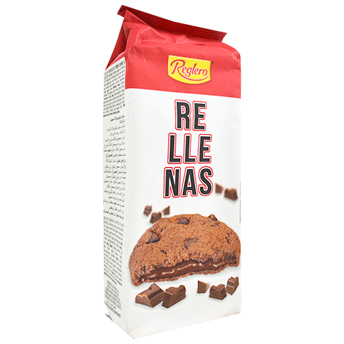 Galetes cookies Reglero farcides amb xocolata negra