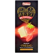 Chocolate blanco con fresas Torras 0% azúcares añadidos