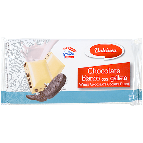 Xocolata blanca amb galeta de cacau Dulcinea tauleta