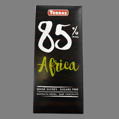 Xocolata negra 85 % cacau Torras sense sucre
