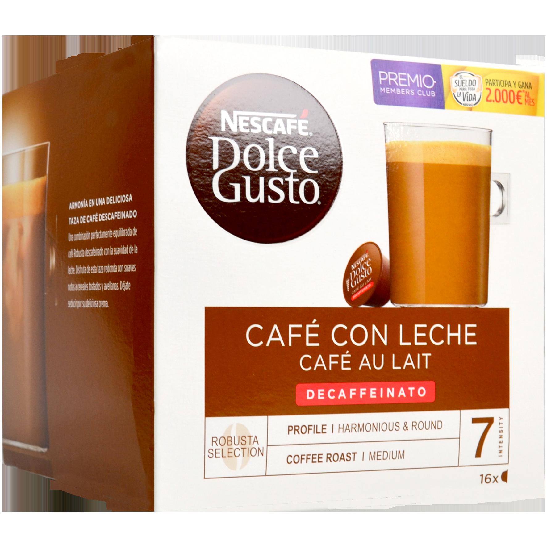 Càspula de cafè amb llet Nescafé Dolce Gusto descafeinat