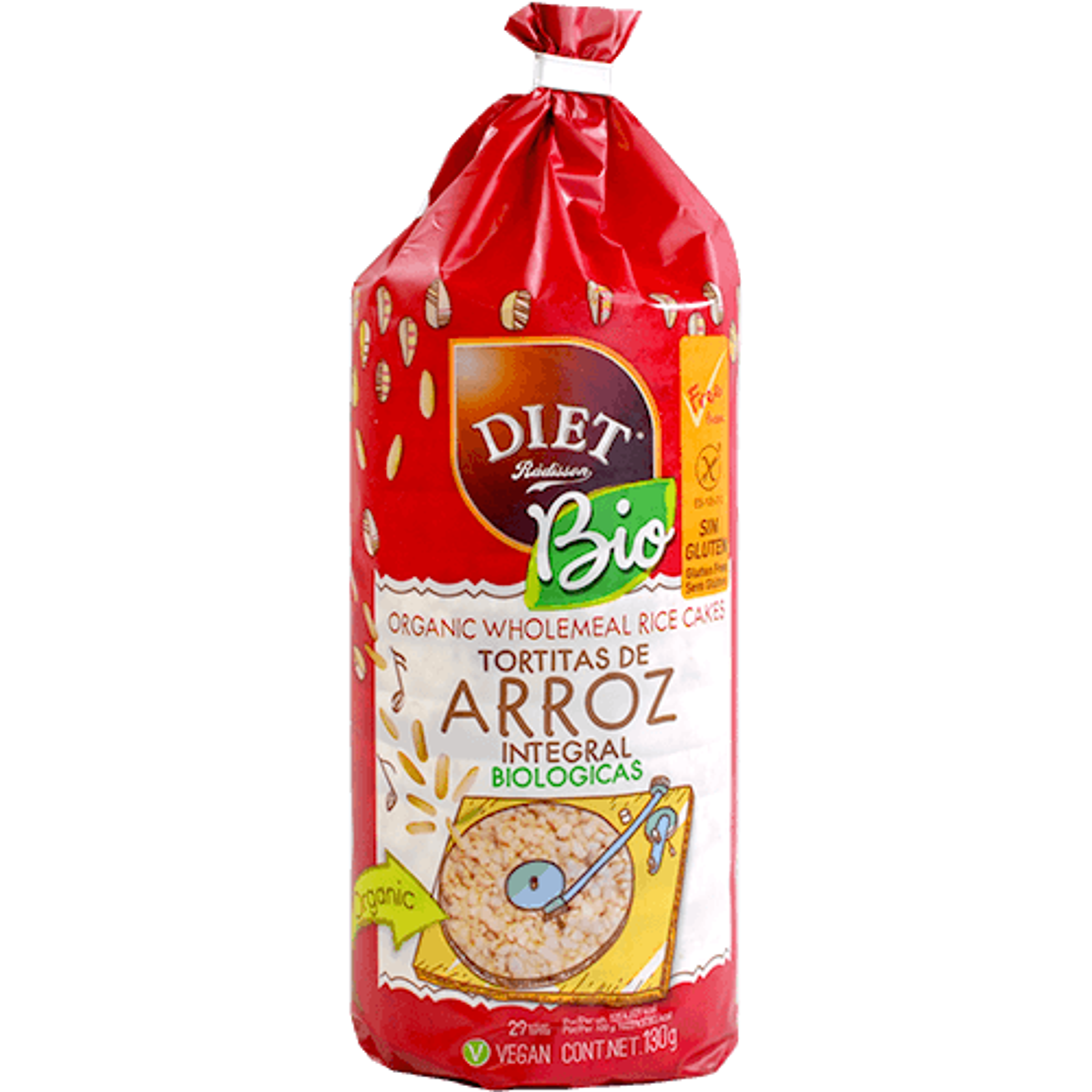 Coquetes d'arròs integral Diet radisson