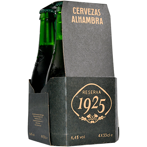 Cervesa Alhambra reserva paq. 4 x 33 cl