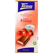 Chocolate relleno de crema Tirma sabor fresa