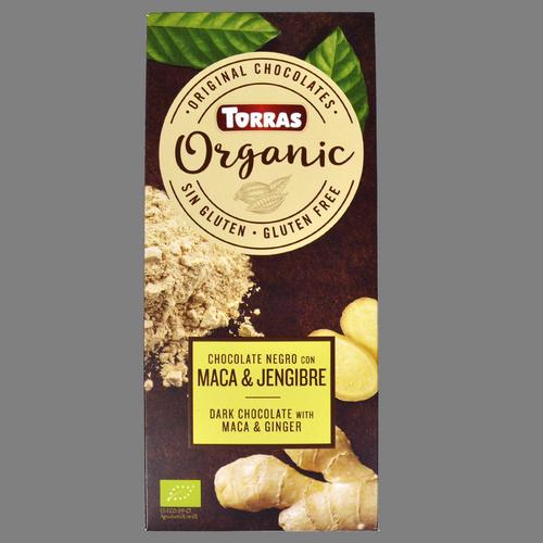 Xocolata negra amb maca & gingebre Torras organic
