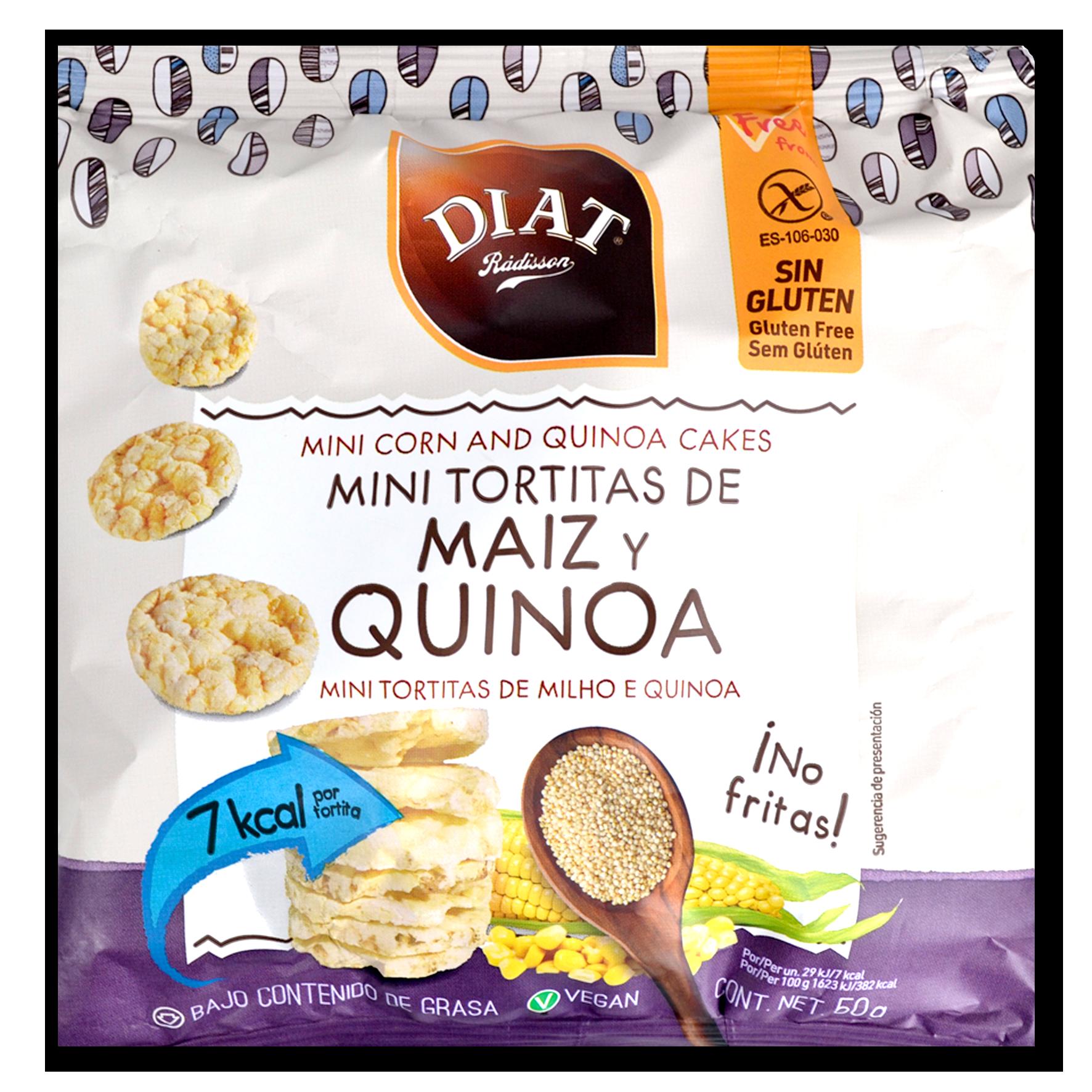 Mini coques de blat de moro i quinoa Diet Radisson