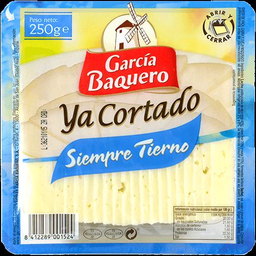 Formatge tendre tallat Garcia Baquero
