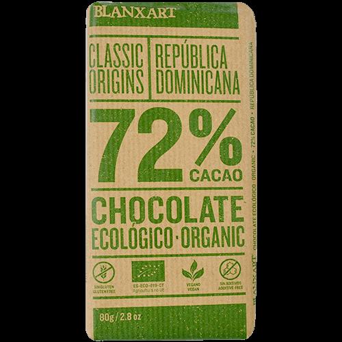 Chocolate negro 72% cacao ecológico Blanxart