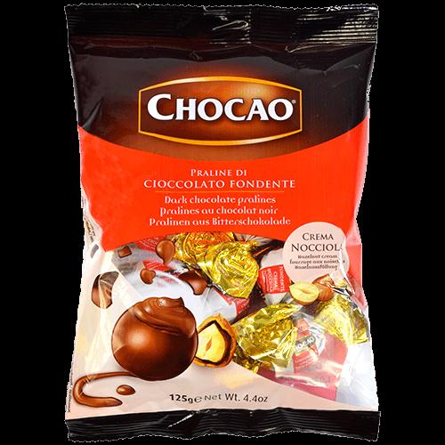 Bombón chocolate fondant con avellanas