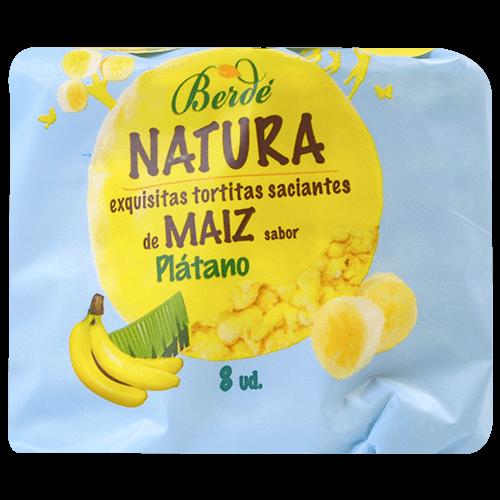 Tortitas de maíz Berde sabor plátano