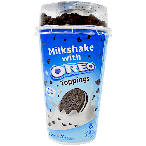 Oreo milkshake amb toppings got