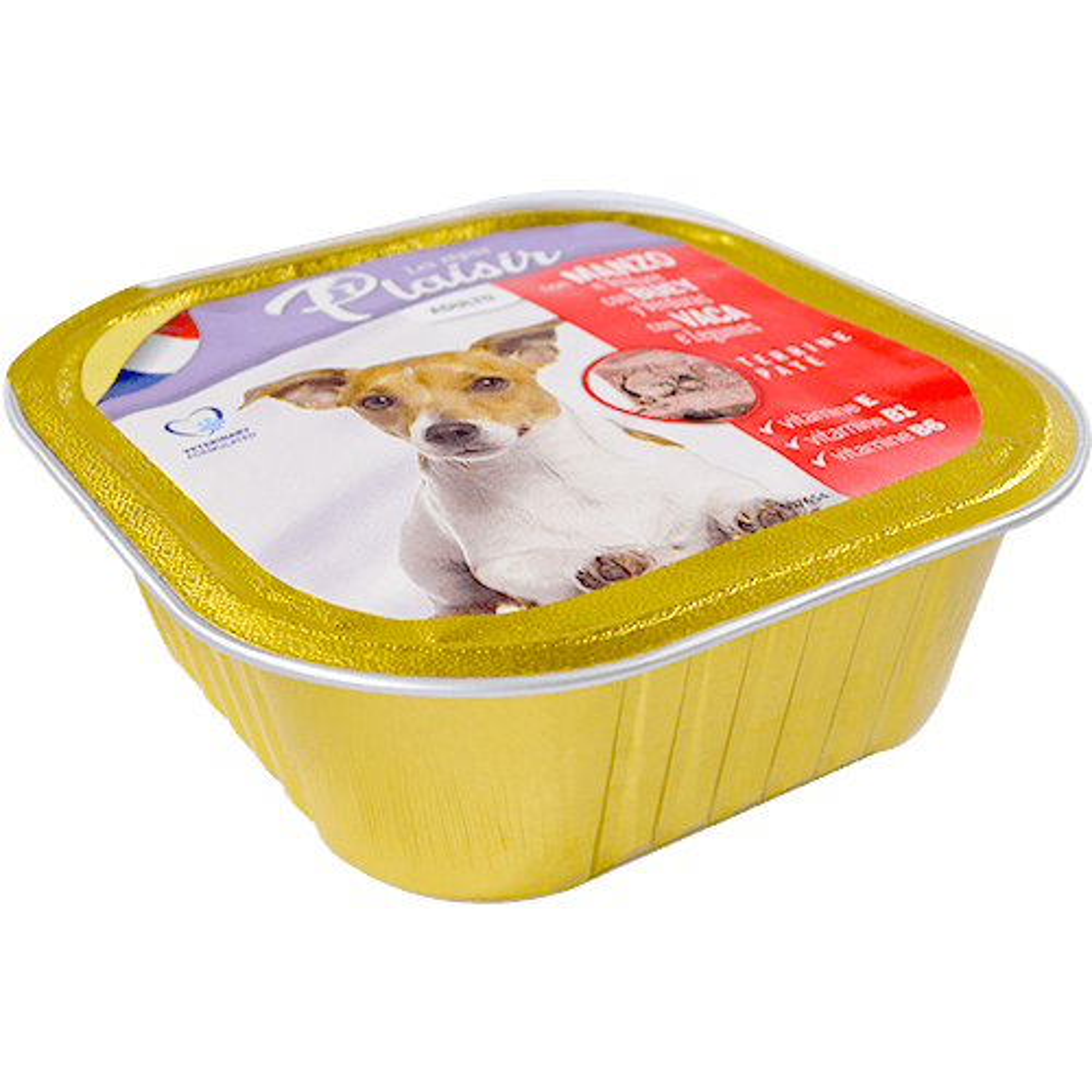Menjar per gos Plaisir bou terrina