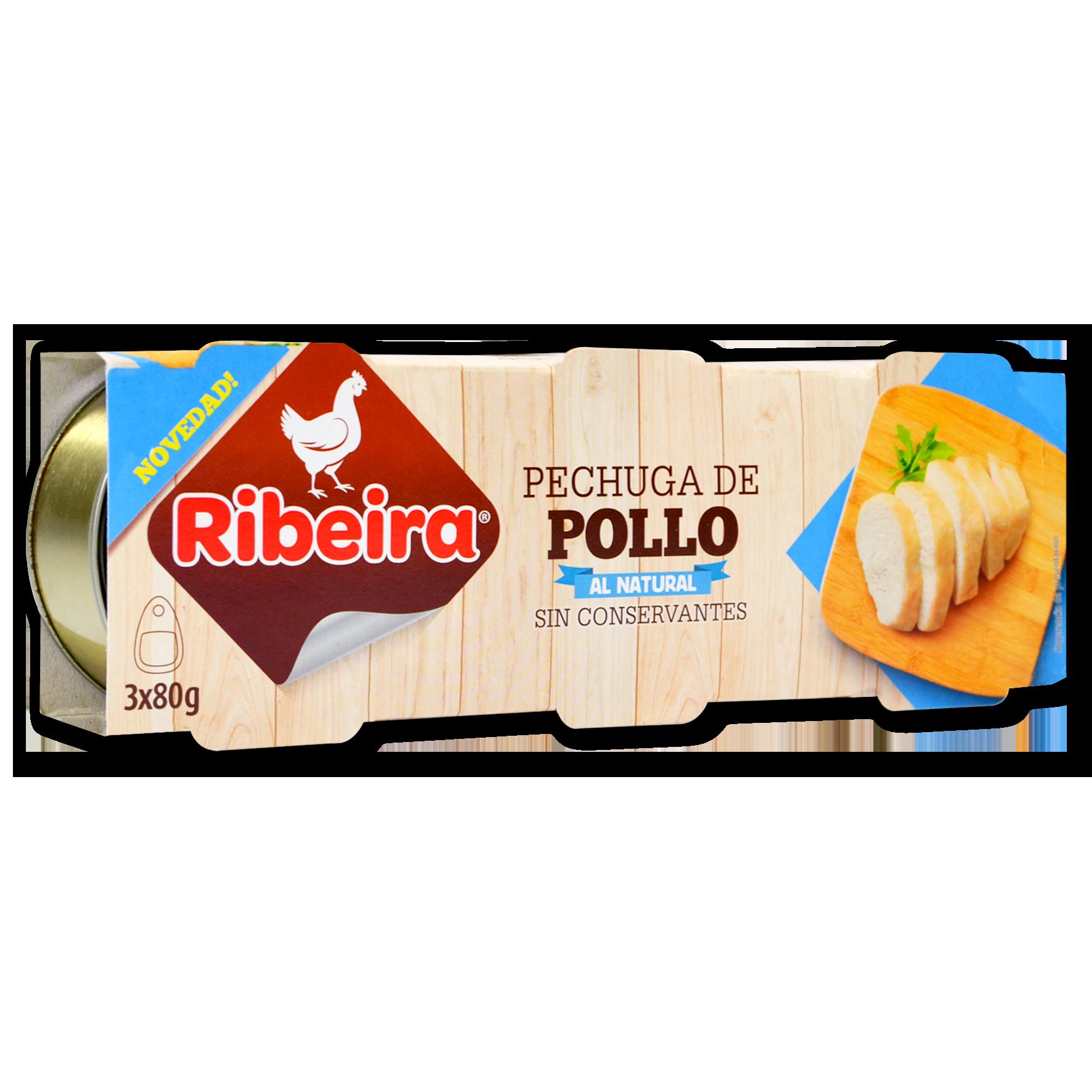 Pechuga de pollo Ribeira lata 3x80g
