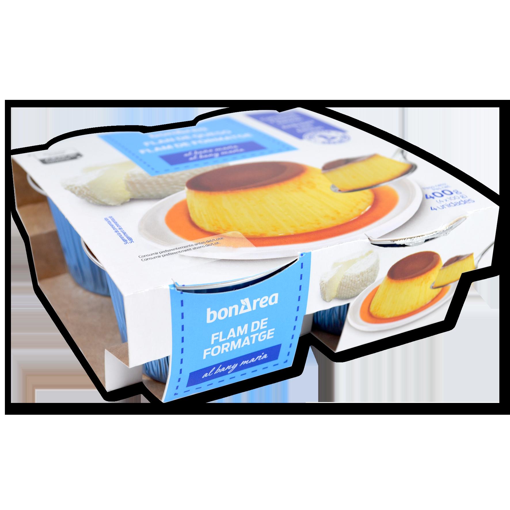 Flam de formatge paq. 4 u. x 100 g