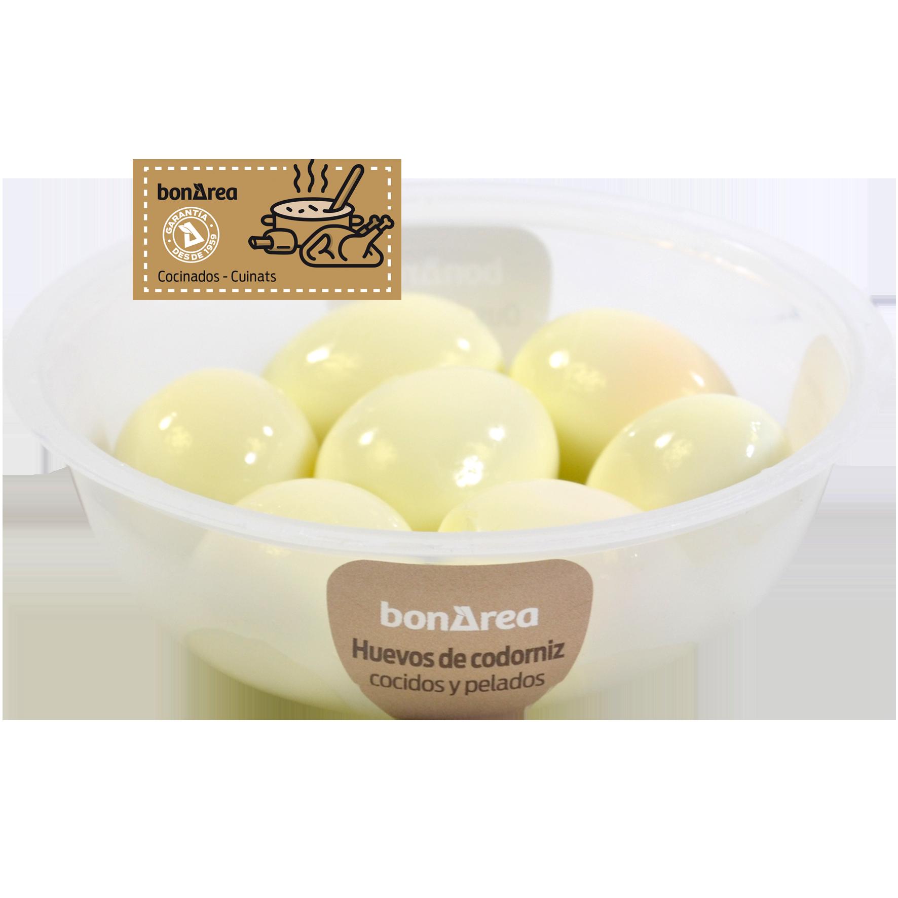 Huevos de codorniz cocidos y pelados 7 u.