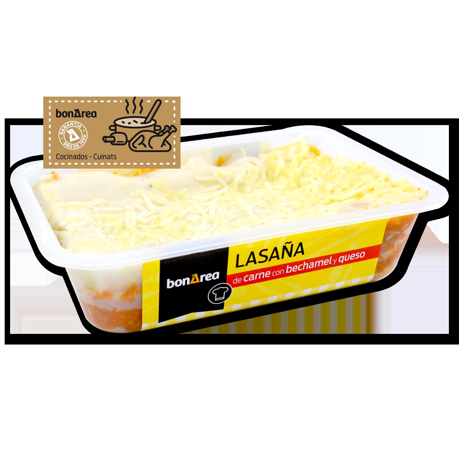 Lasanya de carn amb beixamel i formatge